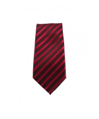 KRAVATA Pruhovaná  (červená, černá)