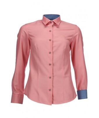 REPABLO dámská košile růžová s ozdobnýmí knoflíky ... 3daf409316