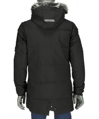 ... REPABLO černá zimní bunda s kožešinovým límcem d4e9a96d30