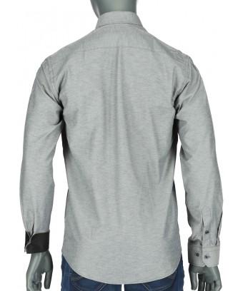 REPABLO břidlicově šedá slim košile