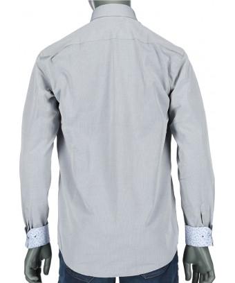 REPABLO šedá slim košile