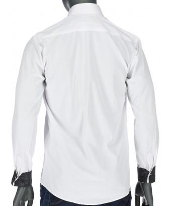 REPABLO elegantní bílá slim košile