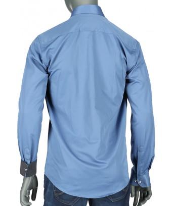 REPABLO elegantní modrá slim košile