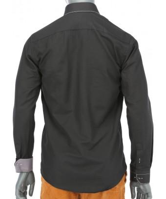 REPABLO černá slim košile