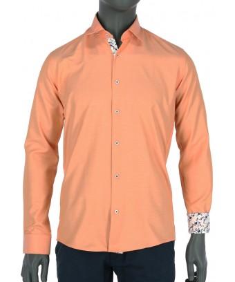 REPABLO svěží slim oranžová košile ... 792032b3f8