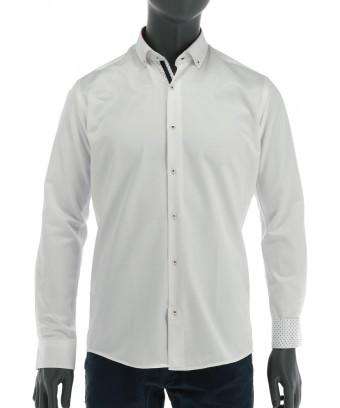 REPABLO bílá slim košile