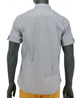 REPABLO šedá košile s krátkým rukávem