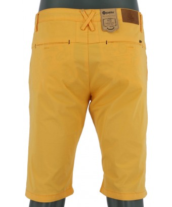 REPABLO žluté plátěné kraťasy