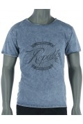 REPABLO modré triko s nápisem Repablo
