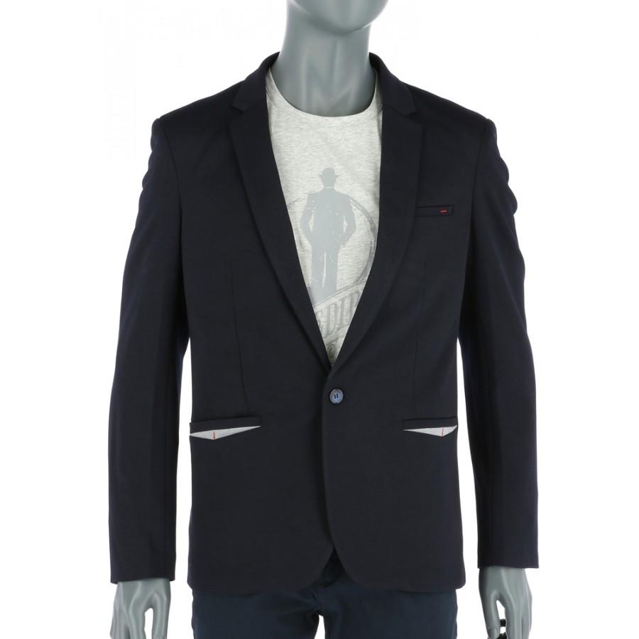 REPABLO modročerné sako s šedými detaily