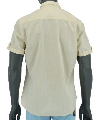 REPABLO žlutá košile s krátkým rukávem