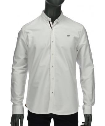 REPABLO bílá košile s možností zapnout ohrnuté rukávy