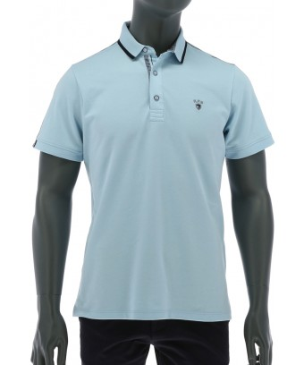 REPABLO modré polo triko s černou linkou