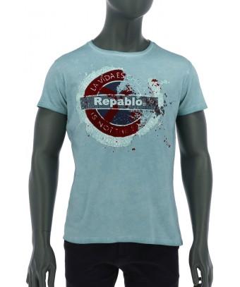 REPABLO modré triko s logem Repablo