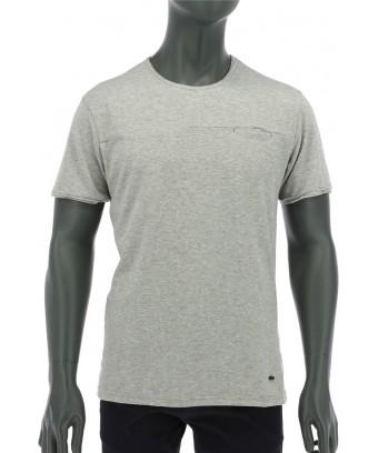 REPABLO šedé triko s kapsičkou