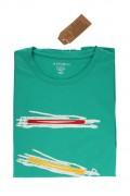 REPABLO zelené triko s grafikou ve předu