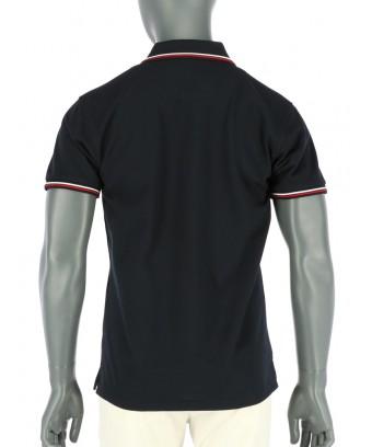 REPABLO  černé polo triko s červenobílými linkami
