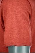 REPABLO cihlově červené triko s kapsičkou