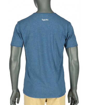 REPABLO modré žíhané triko s kapsičkou
