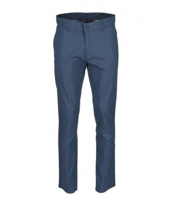 REPABLO modré kalhoty se čtverečky