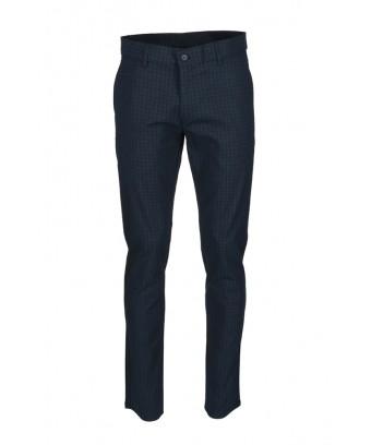 REPABLO tmavě modré kalhoty se čtverečky