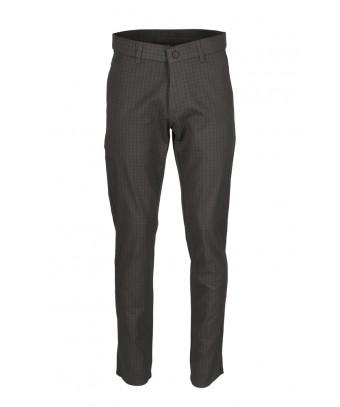 REPABLO černé kalhoty se čtverečky