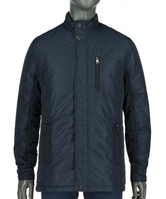 REPABLO modrá bunda wall street s kapsami na zip