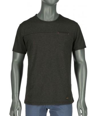 REPABLO - černé triko s kapsičkou