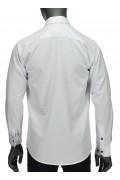 REPABLO košile bílá s ozdobným lemováním