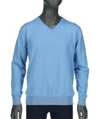 REPABLO světle modrý svetr do véčka ... 7aae824a6f