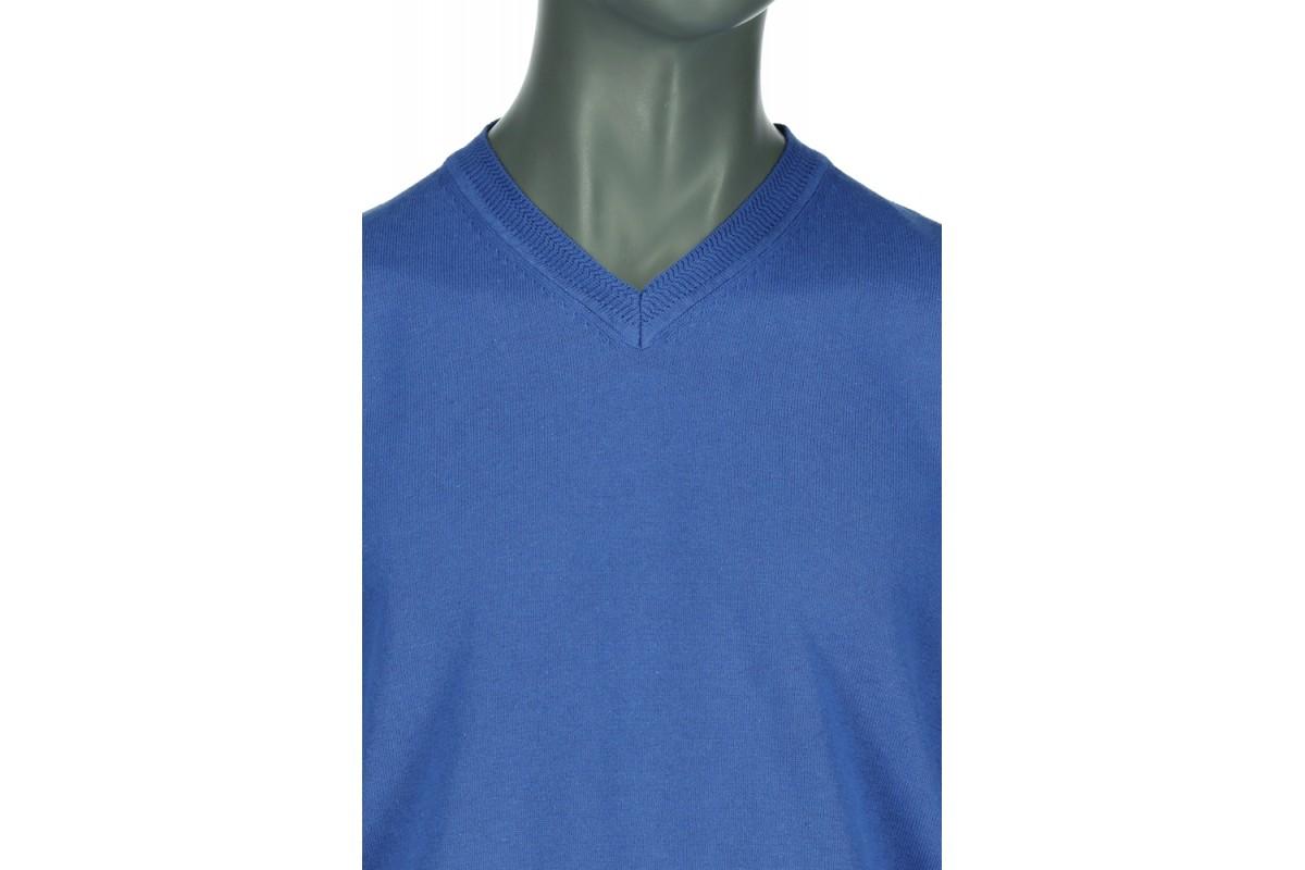 REPABLO modrý společenský svetr s večkovým výstřihem - SW 100-6 db7f6a5838