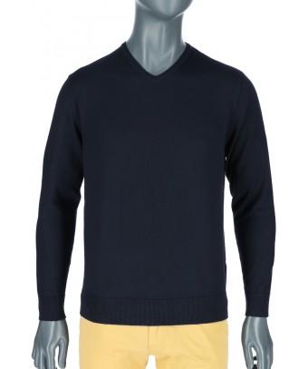REPABLO tmavě modrý svetr do společnosti ... a0e483f7a5