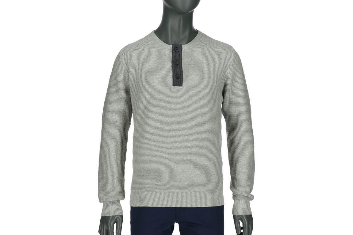 REPABLO svetr se zapínáním šedý - SWJ 1704-3 e7bb797dde